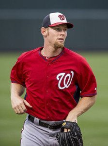 Stephen Strasburg (shown from 2014) makes some claims about fan mail that many collectors might dispute. (Photo credit: Keith Allison, Wikimedia Commons)