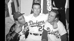 Claude Osteen with Sandy Koufax and Don Drysdale